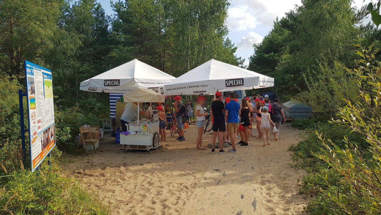 bar na plaży w Mikoszewie