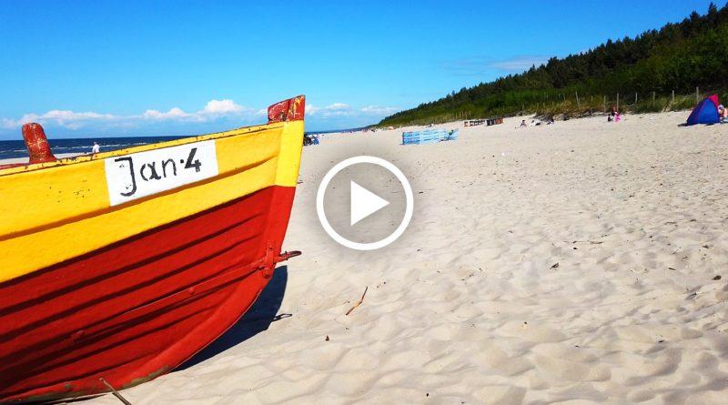 plaża w jantarze - wideo
