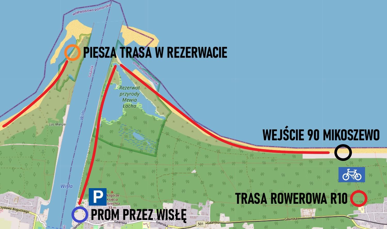 Ujście Wisły i rezerwat Mewia Łacha