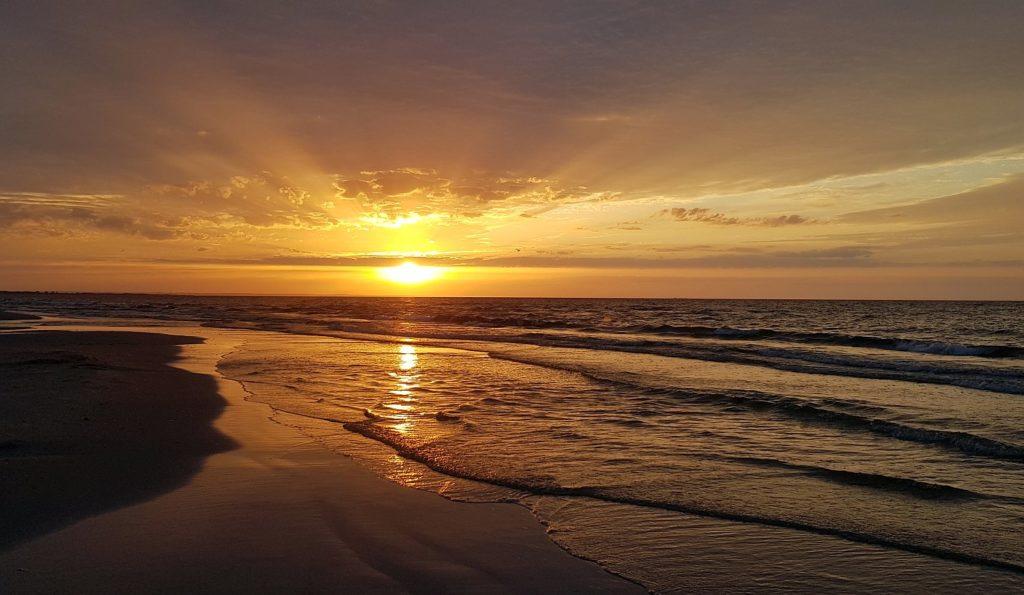 zachód słońca na Mierzei Wiślanej