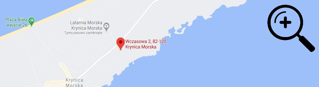 kubusiowy domek w krynicy morskiej mapa