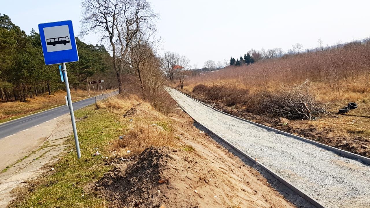 Trasa rowerowa na mierzei wislanej