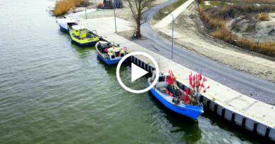 port rybacki w krynicy morskiej wideo 4k