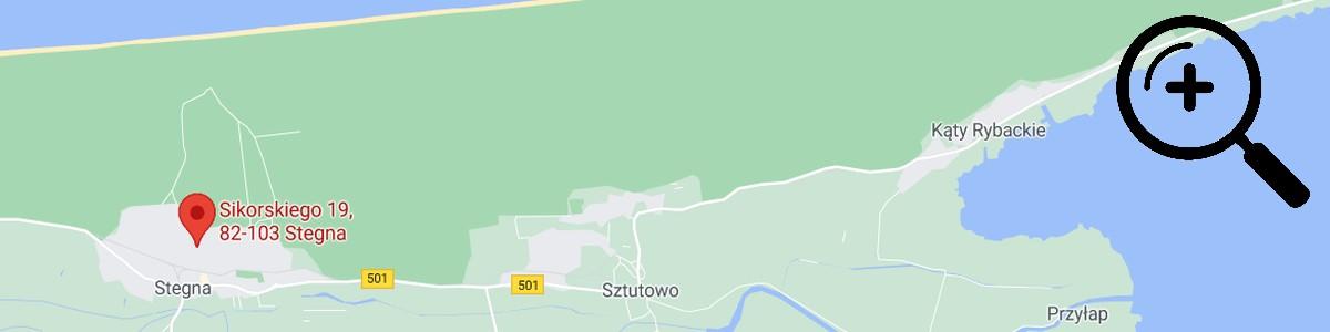 domek w stegnie mapa